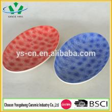 Novo design flor pratos de cerâmica para decoração Home