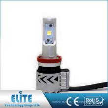 Construido en ventilador led auto faro h11 con buena disipación de calor 6500k DC 10-30volt luces led