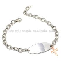 Atacado de ouro rosa barato cruzar o bracelete de lado com jóias pulseiras cadeia