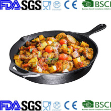 14 Inch Nonstick Preseasoned Round Cast Iron Skillet China Manufacturer