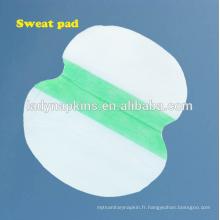 coussin absorbant jetable de suer-vente de hot-seller, garnitures de sudation aisselles en été