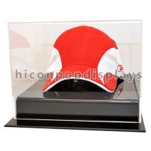 Ropa de deporte Tienda al por menor Casquillos de acrílico Cubierta de la tapa de la tabla, caso de cristal antiguo del sombrero del vidrio