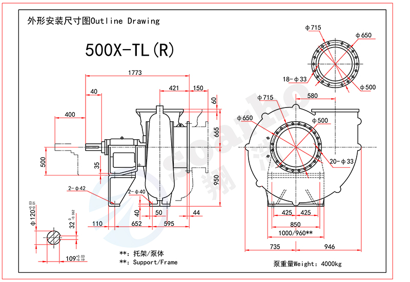 500mm Size FGD Pump