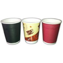 Disposable Corrugated Custom Logo Design Printed Paper Cup