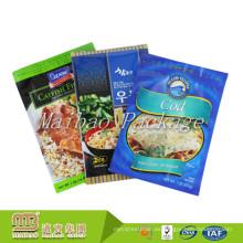 Logotipo personalizado Ziplock Food Grade Food Packaging Condiments seco Bolsa de plástico de embalaje