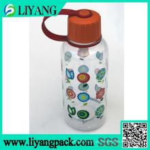 Projeto da flor, filme de transferência de calor para garrafa de água de plástico