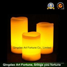 Flameless LED Candle Set de 3 - avec fonction de minuterie