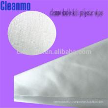 La Chine lingettes de nettoyage bon marché pour l'usage de salle blanche utilise 100% des lingettes de polyester (WIP-1012D-LE)