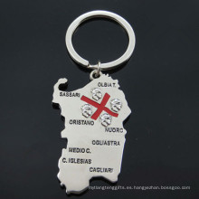 Italia Tourist Metal Regalos Mapa Shape Key Holder (F1150)