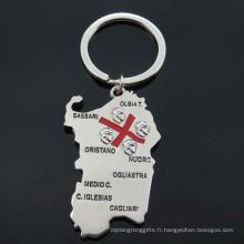Italie Tourist Metal Cadeaux Porte-clés en forme de carte (F1150)