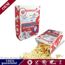 Wholesale High Quality Eco Friendly fashion Cheap Resealable Kraft Paper Microwave Popcorn Paper Bag