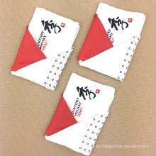 Pre-plegado de seda personalizada de impresión bordes laminados a mano bolsillo cuadrados hombres