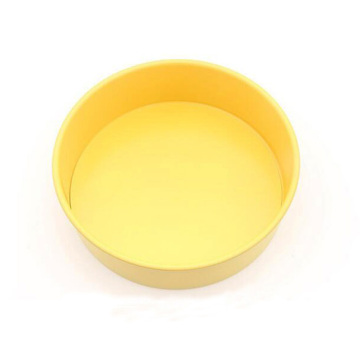 """10"""" Round Cake Pan With Removable Bottom -Yellow"""
