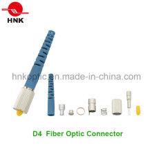 D4 Singlemode Multimode Fiber Optic Connector