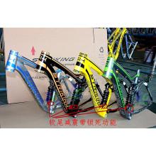 """Marco de la cola suave 26 """"/ 27.5"""" marco de la bicicleta de aleación de aluminio incluyendo 17.5 """"Seatpost para la suspensión completa Downhill Mountain Bike Frame"""