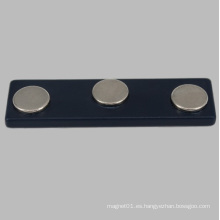 Negro NdFeB magnética insignia de nombre para el etiquetado