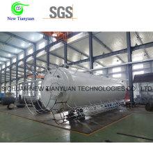 0,8 MPa Pressão de trabalho Lar / Ln2 / Lo2 tanque de armazenamento líquido criogênico