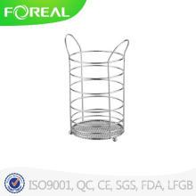 Chromed Metal Wire Utensil Holder
