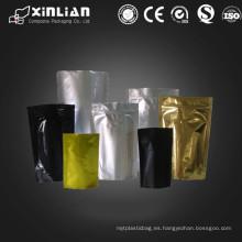Bolsas de plástico de aluminio de la hoja del precio de fábrica / bolsas metálicas coloreadas