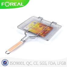 Folding BBQ Grill Basket for Camping