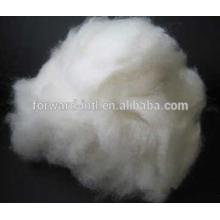 Natürliche weiße Farbe Ziege Enthaarte gekämmte Kaschmir-Faser