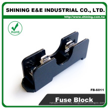 FB-6011 DIN Rail Montado 600V 15 Amp 2 Póles 6x30 Midget Fuse Box