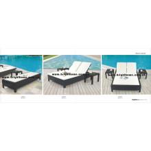 Beach Sun Lounge Outdoor Furniture PE Rattan Wicker Furniture