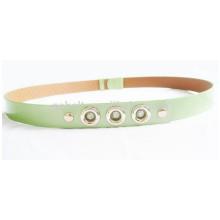 Woman garment decorative Shinny fashion PU belt with stone buckle