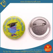 Kinder Brain Tin Button Badge in niedlichen Stil als Geschenk