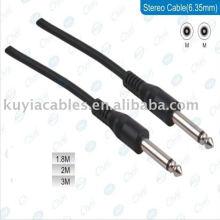 Câble de 6,35 mm à 6,35 mm mâle à mâle