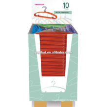 Горячие новые металлические красочные брюки брюки вешалки в упаковке Диспалы