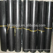 Black flame retardant chloroprene CR rubber sheet