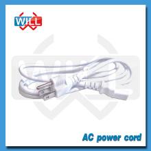 UL CUL NEMA5-15P blanc nous cordon d'alimentation avec CEI C13