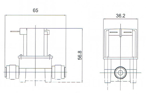 ro inlet outlet solenoid valve drawing