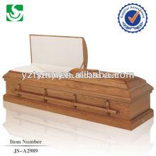 Melhor preço caixão de equipamento de cremação de alças de madeira