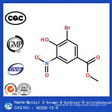 CAS 40258-72-8 China Entrega Segura 3-Bromo-4-Hidroxi-5-Nitrobenzoato de Metilo