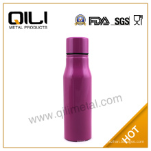 Stainless steel water sports bottle with bamboo lid