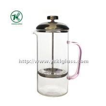 Théière en verre avec acier inoxydable (8.5 * 13 * 21)