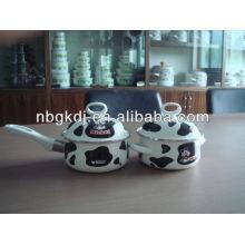 enamel dinnerware sets with bakelite handle and glass lid