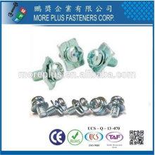 Hecho en Taiwán Tornillo de cabeza especial tornillos del tornillo del cinc del metal M3x12