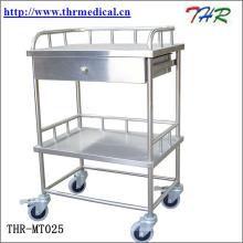 Chariot de traitement médical d'acier inoxydable (THR-MT241)