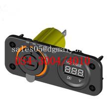 Marine Grade Cigareeete Sockel Feuerzeug & Voltmeter Buchse für Boot / Auto / LKW