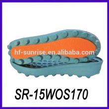 Doble color pu material italiano pu sola comprar suelas de zapatos suelas para hacer calzado