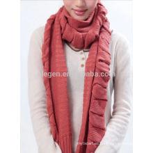 La bufanda de acrílico de la nueva manera hizo punto la bufanda
