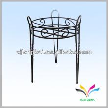 Hot-venta de hierro forjado negro planta de interior de flores de pote de estante