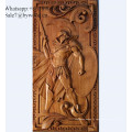 Tenture murale en bois sculpté fait main Panneaux en bois sculpté