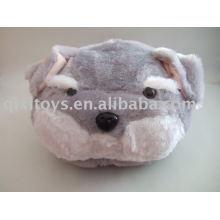 pantoufle en peluche et chien en peluche, doux intérieur animal chaussures jouet