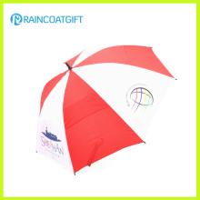 Parapluie de golf de double couche de fibre de verre de la publicité 30'inch 8k