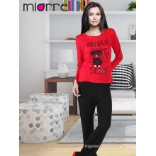 MIORRE OEM Women's Turkish Quality %100 Cotton Elegant Printed Sleepwear Pajamas Set