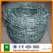 PVC Coated barbed wire in fencing (ISO9001)